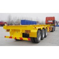 China 40 T Flat Bed Semi Trailer Truck 40 Feet Skeleton Container transport Tractor Trailer wholesale