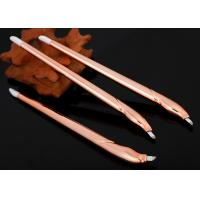 China Champagne Disposable Microblading Pen With Blister Packing 12.25 cm Length wholesale