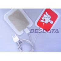 China BESDATA Child Aed Pads Replacement , Aed Electrode Pad Placement Different Sizes wholesale