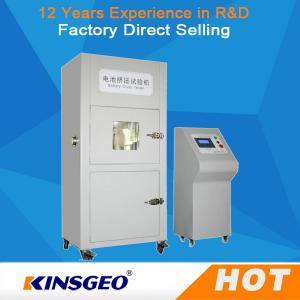 380V,50~60HZ Vacuum Tempered Battery Testing Machine Glass Observation Window Battery Crush Tester