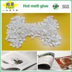 China EVA Milk White Hot Melt Glue Pellets High Soften Point Adhesive Hot Melt For Bookbinding wholesale