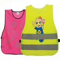 China XS-L Kids High Visibility Vest Elastic Bands On Two Sides EN1150 Compliant on sale