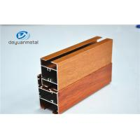 China Nature Polishing Custom Aluminum Extrusion Sliding Door Frames Wood Grain Cutting wholesale