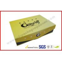 China Yellow Square Cigar Gift Box CMYK Printing Paper with Embossing Logo wholesale