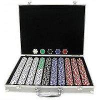 China 1000 Poker Chip Set in Brief Silver Aluminum Case wholesale