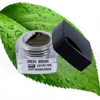 China Permanent Makeup Pigments Professional Tattoo 5ML Green Brown For Microblading Pigment wholesale