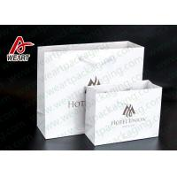 Two Sizes Branded Custom Printed Paper Bags Promotional Use OEM / ODM