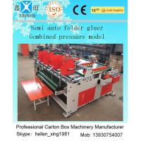 China Easy Operation Carton Folder Gluer Machine With Pressure Press Function wholesale