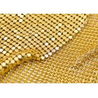 China Shining Aluminum Mesh Fabric , Silver Mesh Fabric For Window / Wall Ceiling on sale