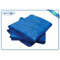 Quality Convenient Disposable Bed Sheet Nonwoven Bright Color Low Thickness 80cm 190cm for sale