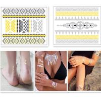 China Fashion Body Art Jewelry Gold And Silver Temporary Tattoos Customizable wholesale
