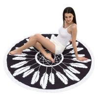 Buy cheap Round Beach Towel Beach Blanket Large Microfiber Towels Yoga Mat With Tassels from wholesalers