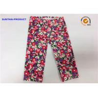 China Attractive Cute Baby Girl Leggings Abrasion Resistance With Trees / Flowers Printed wholesale