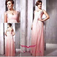 China stylish brand beded spaghetti strap prom gowns wholesale