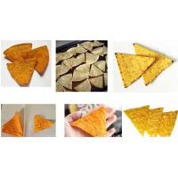 China Extrusion Snacks Fried Wheat Corn Rice Doritos Tortilla Chips Making Machine on sale
