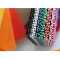 China Eco - Friendly Waterproof CMYK Full Color PP Flute Board Correx pp plate sheet on sale