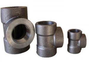 China Ansi B16.11 3000 Lbs Swe Equal Tee A105 Forged Steel Fittings wholesale