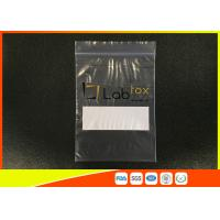 China Industrial Grade Clear Plastic Ziplock Poly Bag For Electronic Products With Zipper wholesale