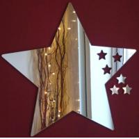 China Five-pointed Star Shape Acrylic Mirror Sheets With Excellent Service wholesale