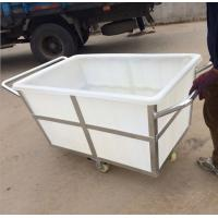 China NEw product durabel 500L no folding plastic laundry  trolley carts wholesale