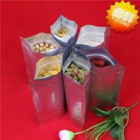 China customized printed aluminum foil packaging bags with ziplock and clear window wholesale