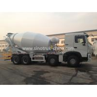 China 371hp 8×4 4 Axle Concrete Mixer Truck Color Optional With 16 Cbm Tanker wholesale