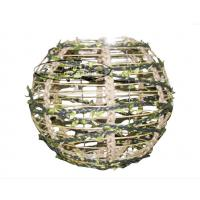 Buy cheap En71 Dia 10 Inch Round Metal Lantern Decorative With Leaf Rope Wrapped from wholesalers