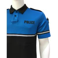 Fabric police patrol duty uniform custom security polo for Embroidered police polo shirts