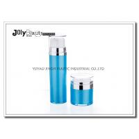 China Cap Transparent The Bottle In The Blue Section Plating Silver Airless Pump Bottles wholesale