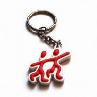 China PVC Keychain, Customized Designs and Logos Available, Suitable for Promotional Gifts wholesale