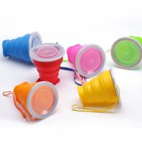 China Portable Food Grade Silicone collapsible travelling usage foldable cup wholesale