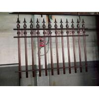 China Wrought Iron Cast Iron Fence Rosettes For Home Decoration Iron Bar Fence on sale