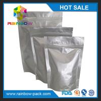 China Eco-friendly Silver Aluminium Foil Pouch Ziplock Stand Up Gravure Printing wholesale