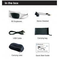 Buy cheap Romote Control Bluetooth Headset Sunglasses For Enjoying Music , Answering Call from wholesalers