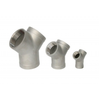 """China 1/2"""" 3000lb Forged Steel Fittings Stainless Seamless A105 Y Type Tee wholesale"""