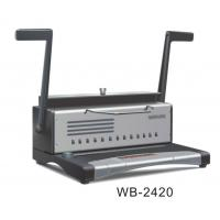 China Hole Puncher Electric Binding Machine , A4 Size Wire Spiral Binding Machine wholesale
