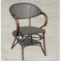 China Fabric Patio Aluminum Bamboo Textylene Starbucks Outdoor Dinning Chair wholesale