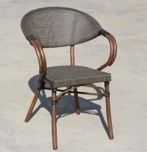 China Fabric Patio Aluminum Bamboo Textylene Starbucks Outdoor Dinning Chair wholesale