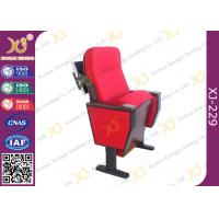 China Wooden Structure Polyurethane Foam Auditorium Chairs With Luxury Folding Table wholesale