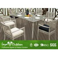 China Rectangle Rattan Table Garden And Patio Furniture Dining Sets Customised Size wholesale