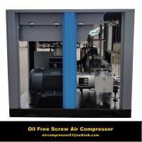 China 15kw 20hp Permanent Magnet motor variable frequency oil free screw air compressor on sale