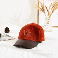 China Custom 56CM Suede Embroidered Baseball Caps With PU Brim wholesale
