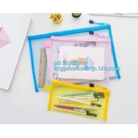 stationery within mesh PVC waterproof zipper document bag/ pvc folder, pp plastic file folder printable document bag