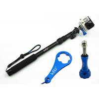 China Gopro Handheld Camera Holder Stick All-Aluminum Alloy Telescopic Pole , Extendable Arm For Selfies on sale
