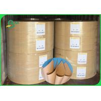 China Width 70×100cm Tear Resistant Smooth Surface 70 - 80g Brown FDA Kraft Paper In Roll on sale