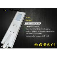 China Solar powered street lights system PIR Sensor Waterproof Government Projects 115LM/W wholesale