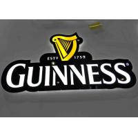 China LED illuminated Beer Plexglass Bar Sign For Displaying Beer Customized Logo Shape wholesale