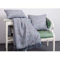 China Woven Blue Couch Throw Blanket Multiple Colors 100% Polyester For Home wholesale
