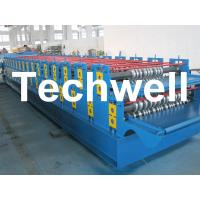 China 0 - 15m/min Forming Speed Double Layer Forming Machine For Roof Wall Panels wholesale