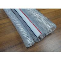 China PVC Braided Hose / Food Grade Transparent Fiber Reinforced Braided Net Pipe Tubing wholesale